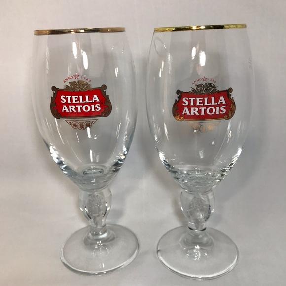Stella Artois 40 Cl Beer Glasses Set of 2